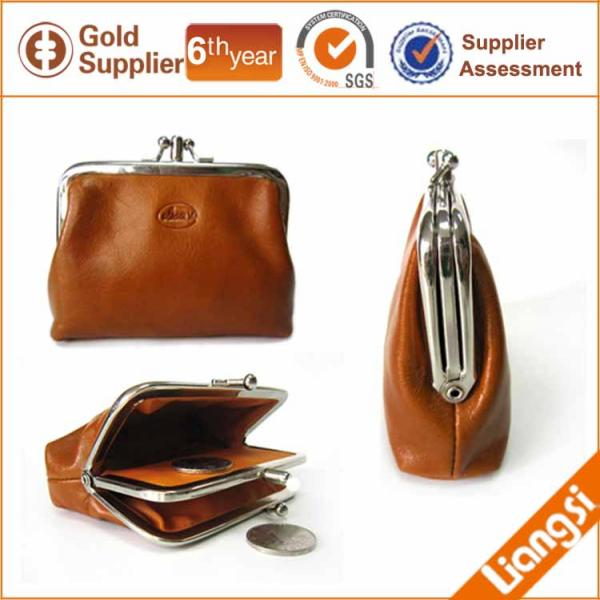【FREE SHIPPING】LIAMS Genuine leather mini hasp coin purse double pockets