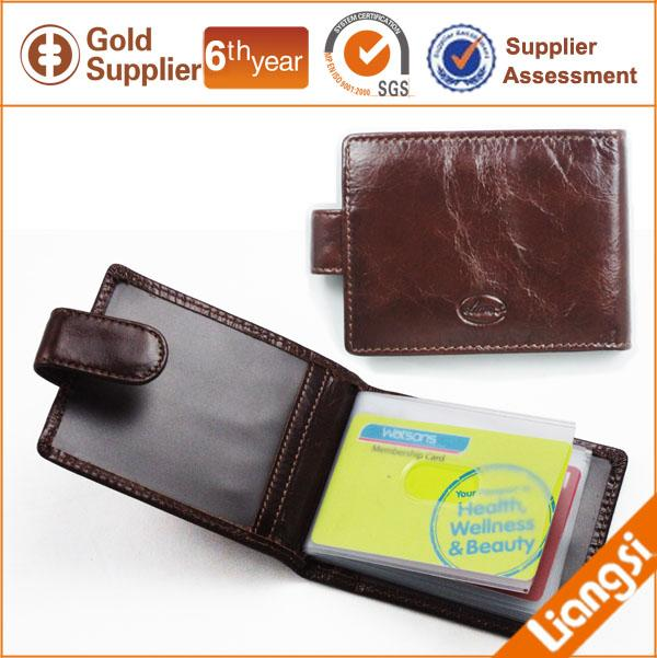 【FREE SHIPPING】LIAMS New stylish cow leather card holders