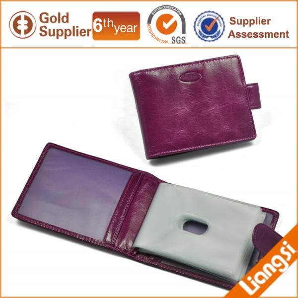 【FREE SHIPPING】LIAMS Fashion genuine leather card holder for business cards