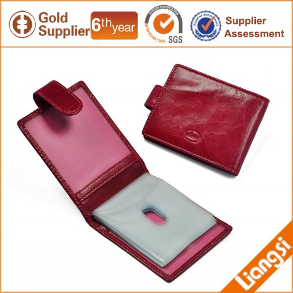 【FREE SHIPPING】LIAMS Hot selling credit card cow leather holder