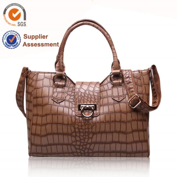 【FREE SHIPPING】LIAMS Fashion crocodile pattern leather lady bags
