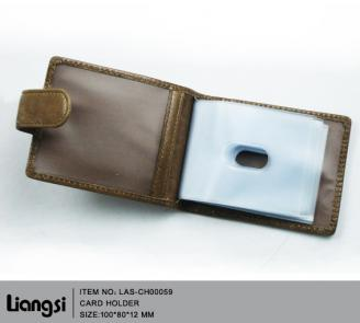 【FREE SHIPPING】LIAMS  100% genuine leather cheap button card holders