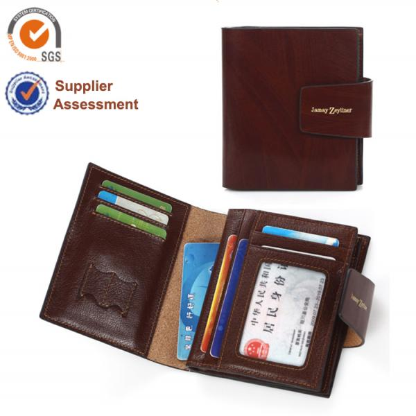 【FREE SHIPPING】JAMAY ZEYLINER Genuine Leather men 's Wallet Multiple Functions Business Wallet