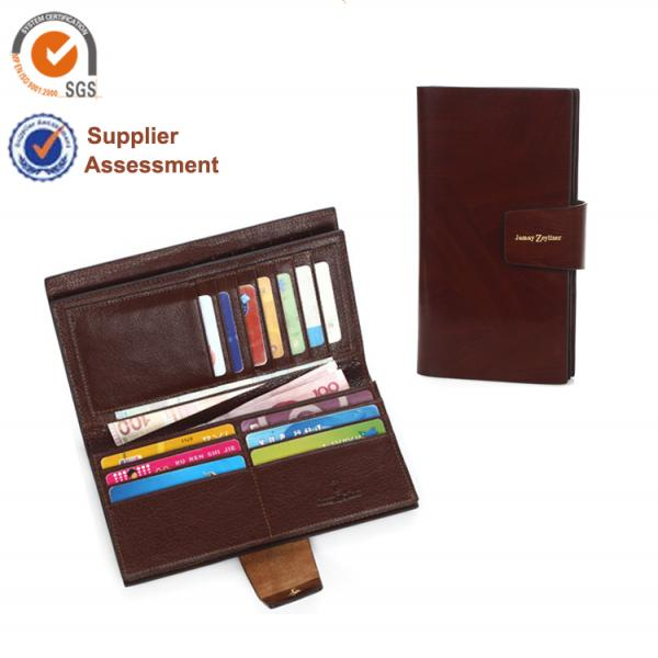 【FREE SHIPPING】JAMAY ZEYLINER 2013 hot fashion cow leather long Business Wallet for Man