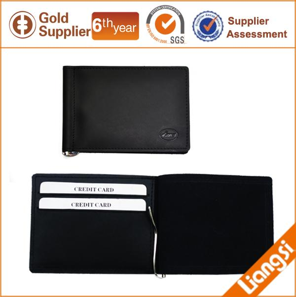 【FREE SHIPPING】LIAMS Genuine leather classic money clip wallet