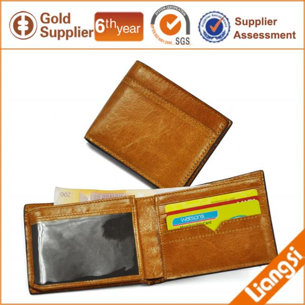 【FREE SHIPPING】LIAMS Genuine leather wallet Standard wallet for men 2013