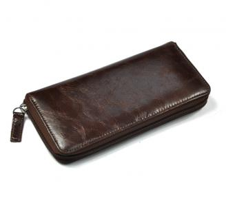 【FREE SHIPPING】LIAMS High quality Zipper Leather Purse