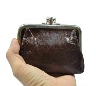 【FREE SHIPPING】LIAMS Hasp lady wallet metal buckle coin purse