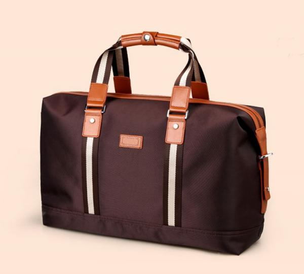 【FREE SHIPPING】Liams quality oxford + PU leather travel bags for men