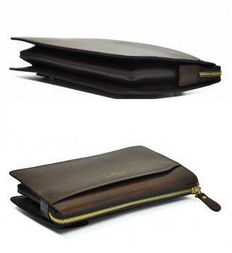 【Free shipping】 Liams 100% Genuine Cow Leather Day Clutch Fashionable Designer Men's Clutch Bag