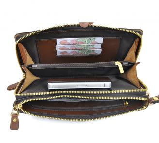 【Free shipping】 Liams 100% cow leather new fashion 2013 stylish clutch bags