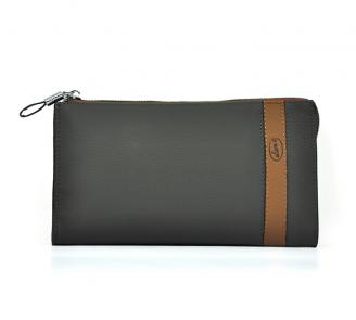 【Free shiiping】 Liams 100% cowhide leather promotional clutch handbags for men