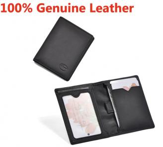 LIAMS classic 2014 genuine leather men business card holder